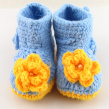 hand made baby shoes crochet,flower boot shoes for baby,baby crochet boot shoes