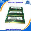 Best price ETT original chips tested ddr2 4gb notebook ram memory