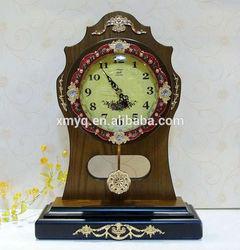 Antique Wooden Table Clock Desk Clock