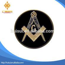 custom zinc alloy gold black Masonic car Auto Emblem