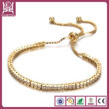 18k italian gold diamond tennis bracelet bijou