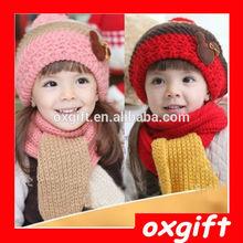 OXGIFT New Style Lovely Warm Knitted Winter Children Hat