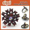 alibaba venta al por mayor estilo de laindia de oro plateado de diamantes deimitación anillo del dedo