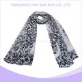 2014 caliente venta de moda de bajo precio gris bufanda print animal