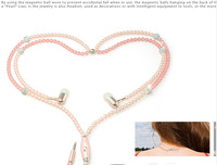 Hot selling colorful design clear sound pearl headphone earphone