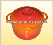 Chinese orange modern design stew pot