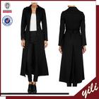 women new fashion clothes A full length overcoat black maxi coat