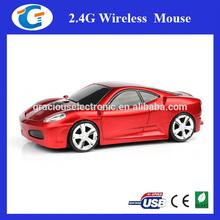 New Design 2.4Ghz Computer Optical Wireless Ergonomic Car Mouse
