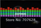 45cm*11cm Blue,Green,Pink car sound/music activated equalizer light window Sound Activated Flashing Light