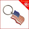 Promotional metal flag shape key chain