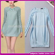 Alibaba Online Shopping Ladies Long Sleeve Dresses Fashion Roman Knit Women Dresses