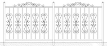 BS style Iron Wrought Steel Fence (fencing G1)