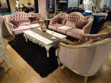 Living room furniture classical solid wood frame velvet wedding sofa