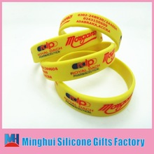 port business holiday promotional gift graceful silicon wristband