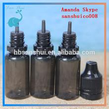 2014 new design 10ml black pet bottle for ejuice hot sell