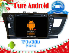 Android 4.2 dvd car for Toyota Corolla 2014 9 inch,Capacitive and multi-touch screen support OBD