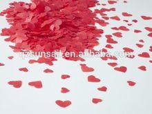 heart shape paper confetti for wedding