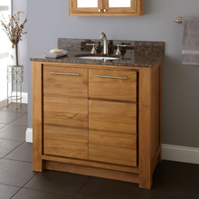 American Style Solid Wood Bathroom Vanity Base,Oak Bathroom Cabinets with Galala Beige Marble Vanity Top