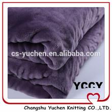hot sale plain flannel purple, terry cloth wholesale