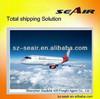 Air shipping from China Shenzhen, Guangzhou to Zaragoza Spain / shenzhen airport to Zaragoza airport ZAZ