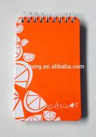 custom 2015 agenda paper cover spiral notebook tiny metal spiral notebook
