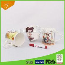 Color Pen Mug,Ceramic Pen Mug