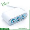 New design cigarette lighter car battery charger with 3 USB port