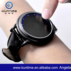 Leather LED Lighted Touch Screen Watch Flashlight