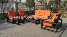 2014 new design patio four seater sectional set
