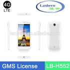OEMODM 4g lte fdd 3G WCDMA MT6582 Quad core 1.3GHz Dual Camera custom big display mobile cell phone handset LB-H552