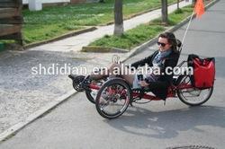 AD favor 250W/350W/500W carbon recumbent trike/tricycle/rickshaw/horizontal trike/3 wheel bike or bicycle with CE