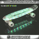 Old School Cruiser skateboard with new led lights wholesale cheap