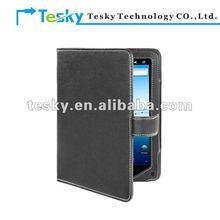 Black color book style pu leather case for nextbook P8 ereader ebook