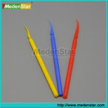 Colourful dental disposable Long handle plastice wedges DMZ01-E