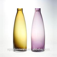 handmade blue color amber color purple color vase