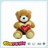Valentine's day animal toys plush bear with hearts, Bear with heart for valentine's day
