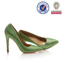 Cina fabbrica vendere ben maturo in cristallo alto- fine tacco alto scarpe tacco 16 cm