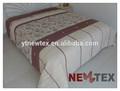marrom impressos retalhos acolchoados cama comforter ajustados pintura elegante colchas