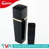 Black square shaped cream lotion bottle, plastic container