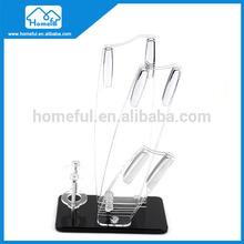 Clearly knife set holder glass kitchen knife block