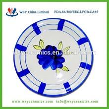 """7.5"""" stoneware antique plates handpainted"""