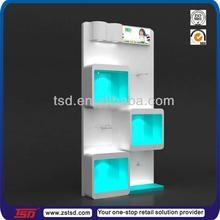 TSD-W315 factory custom shoes store square display shelf/square wood shelf/shoe stand wood