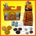 Nueva chocolate crujiente conjuntos/chocolate de oro de la moneda de la mezcla de fútbol/globo bola de chocolate