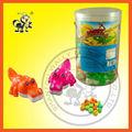 Colorido cocodrilo juguetesdelcaramelo/caramelo en cocodrilo dispensador de forma/china animal de juguete del caramelo