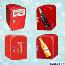 4L AC/DC 12V drink car mini portable fridge CE, RoHS, cooler