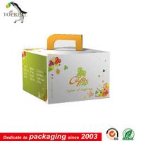 custom food grade corrugated cardboard box cake boxes