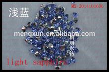 Sew-on crystal round shape loose rhinestone pointback resin