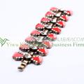 gioielli vintage retrò link lega rosso gemma spianare braccialetto a cerniera 2014 di alta qualità bracciale di cristalloingrosso per le donne