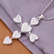 2014 NEWEST FASHION 925 SILVER JEWELRY,MEANINGFUL PENDANT NECKLACE, CROSS HEART NECKLACE