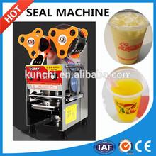 Digital automatic bubble tea cup sealing machine, CE Approval